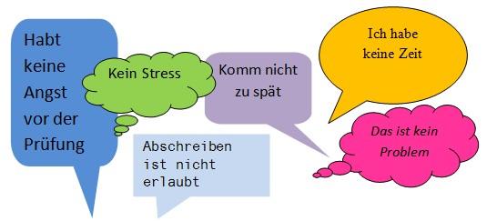Klarheit der Lehrperson Sprechblasen